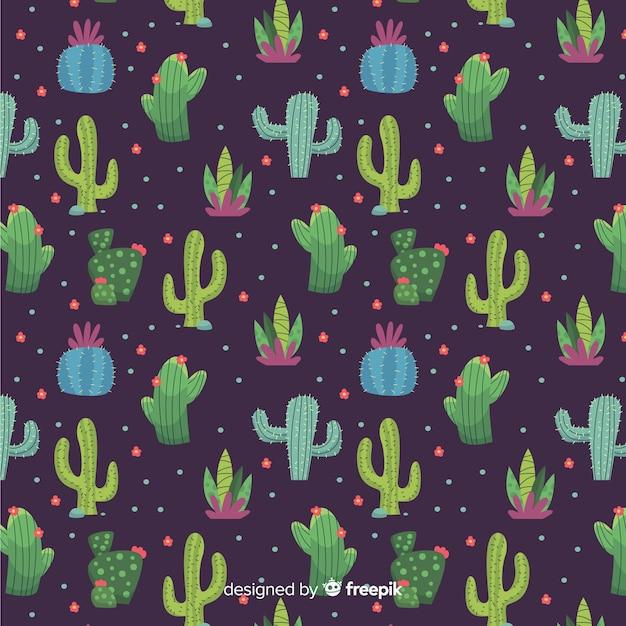 Cactus patroon Gratis Vector
