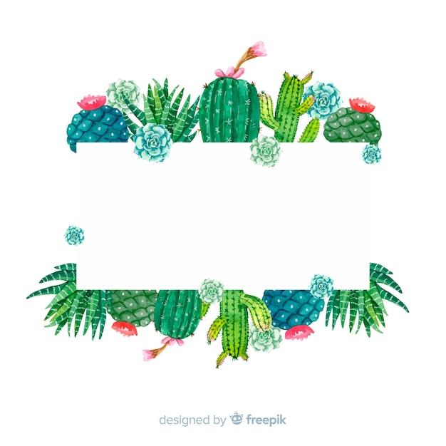 Cactus sjabloon voor spandoek Gratis Vector