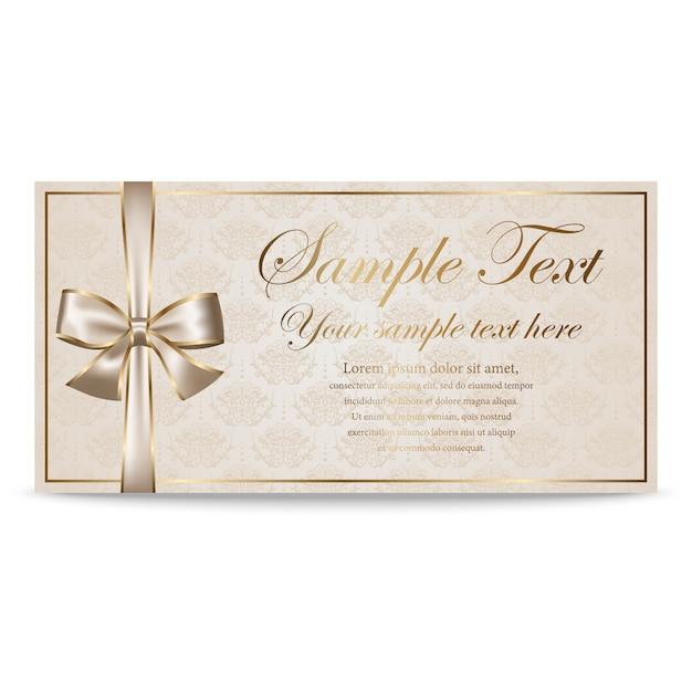 Cadeaubon, certificaat, coupon, uitnodigingssjabloon Premium Vector