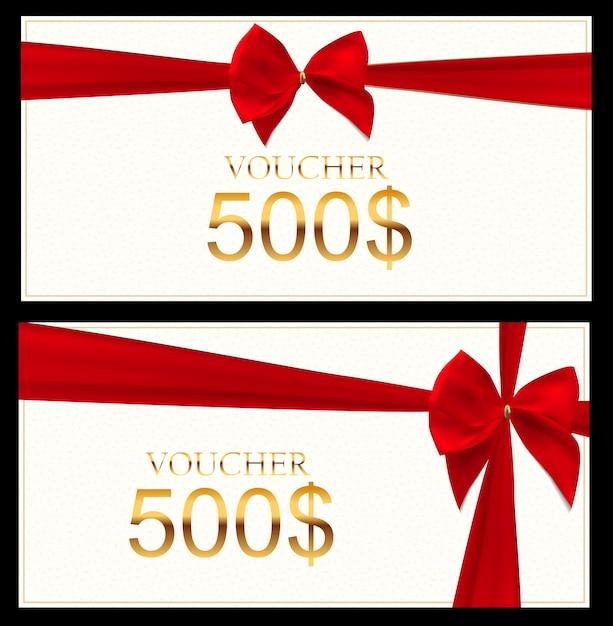 Cadeaubon sjabloon voor uw bedrijf. illustratie Premium Vector