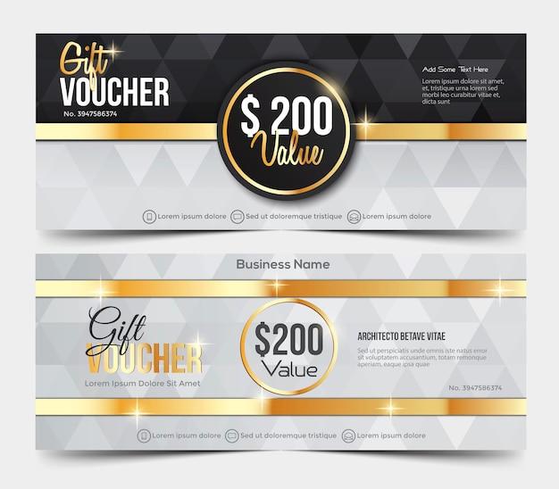Cadeaubon sjabloon Premium Vector