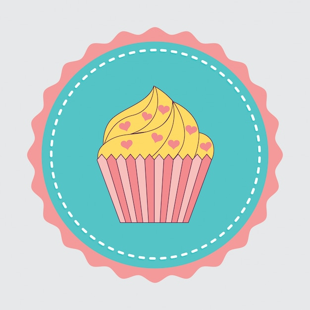 Cake sticker Gratis Vector