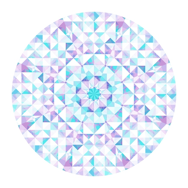 Caleidoscoop achtergrond. abstract geometrisch laag poly patroon. driehoek lichte achtergrond. driehoek geometrische elementen. abstracte driehoekige achtergrond. vector geometrische caleidoscoop. Premium Vector