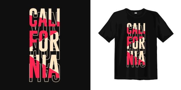 Californië typografie t-shirt ontwerp Premium Vector