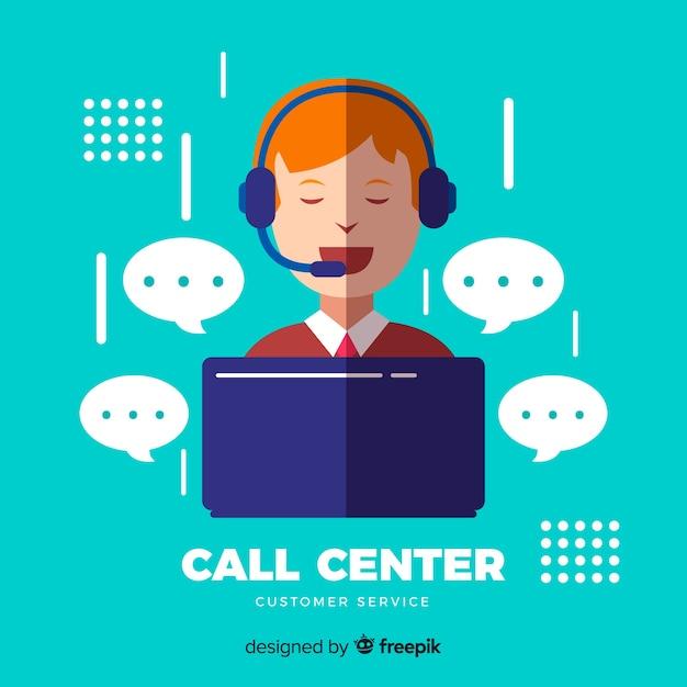 Call center concept Gratis Vector