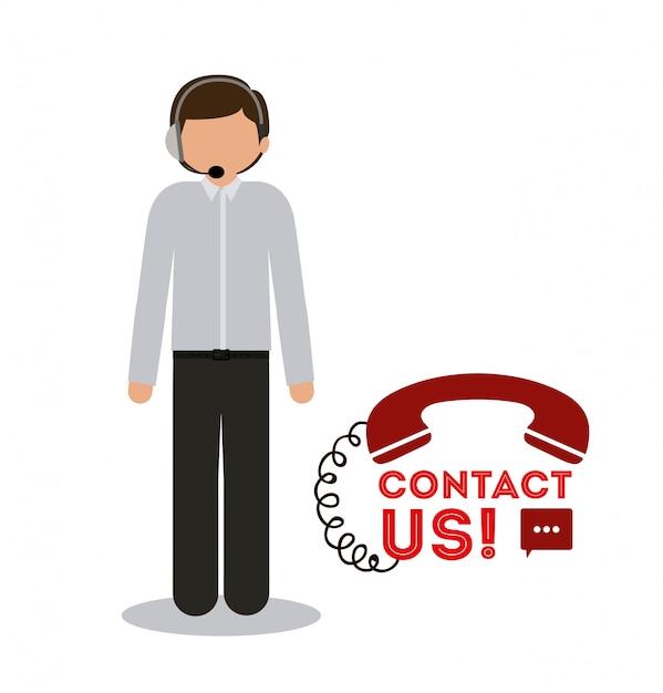 Call center ontwerp Premium Vector