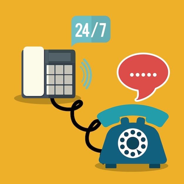Call center service pictogrammen Premium Vector