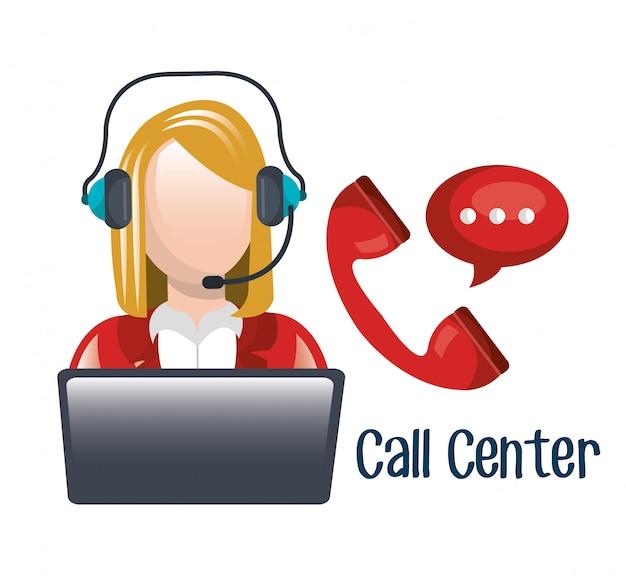 Callcenter Gratis Vector
