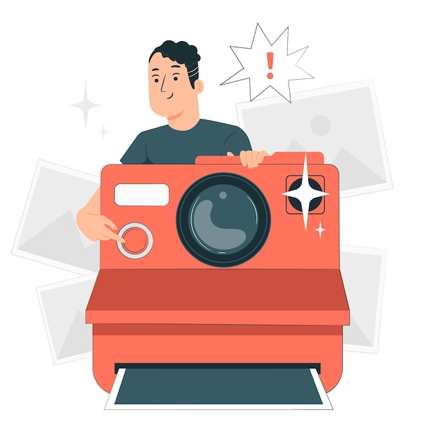 Camera concept illustratie Gratis Vector