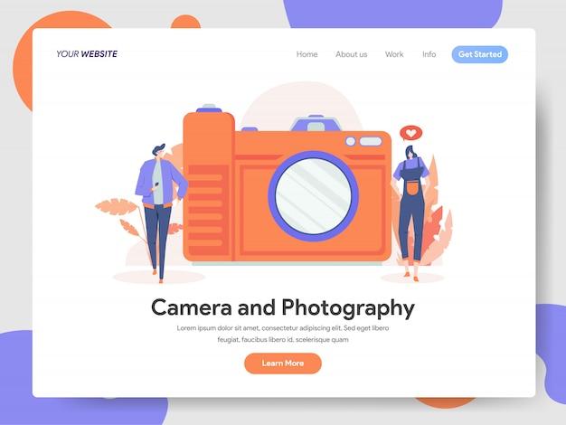 Camera en fotografie illustratie Premium Vector