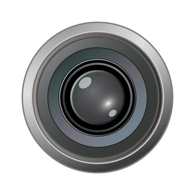 Camera fotolens Premium Vector