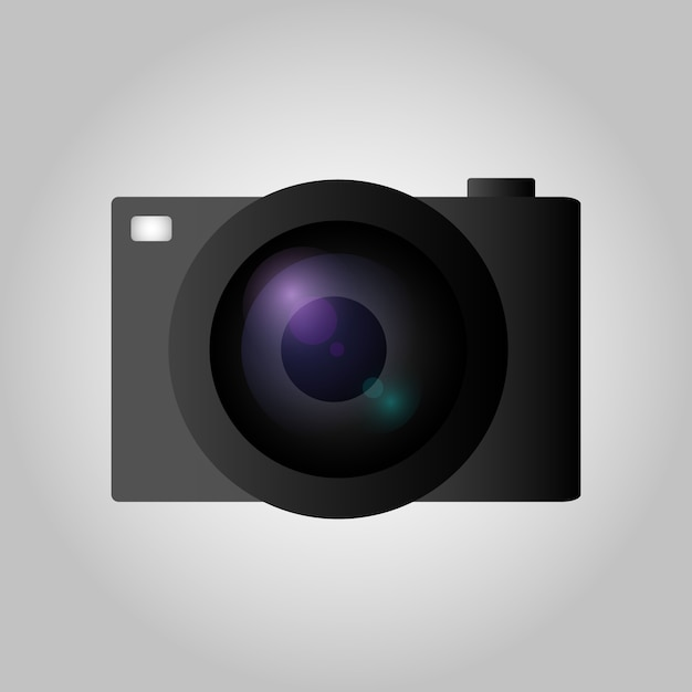 Camera in vlakke stijl Premium Vector