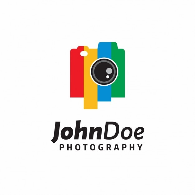 Camera logo kleurrijke vector gratis download for Camera blueprint maker gratuito