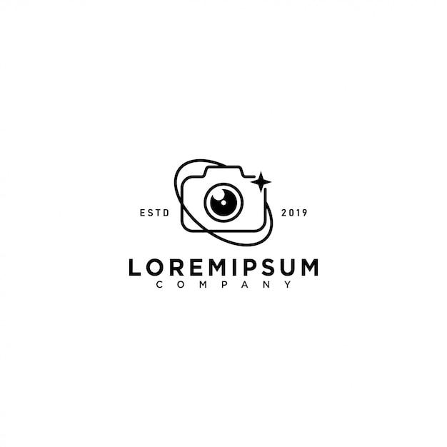 Camera logo sjabloon Premium Vector