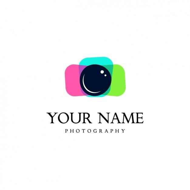 Camera logo template Gratis Vector