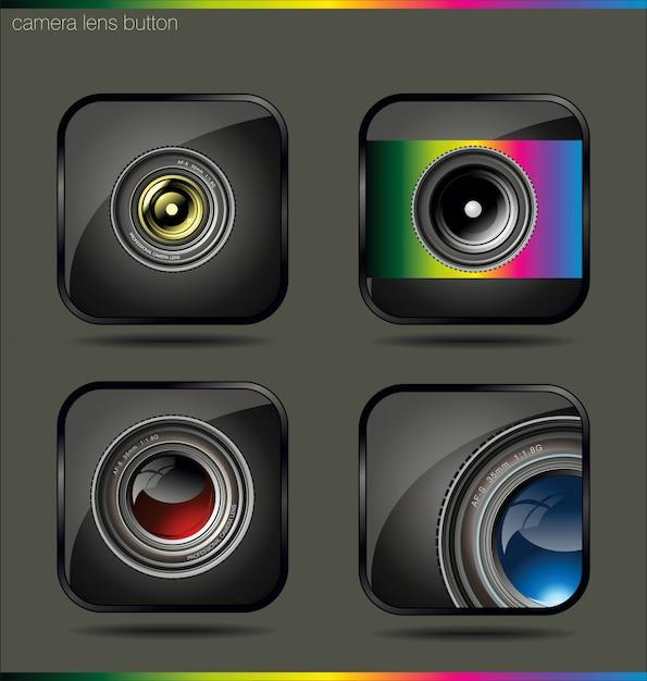 Camera pictogramserie Premium Vector