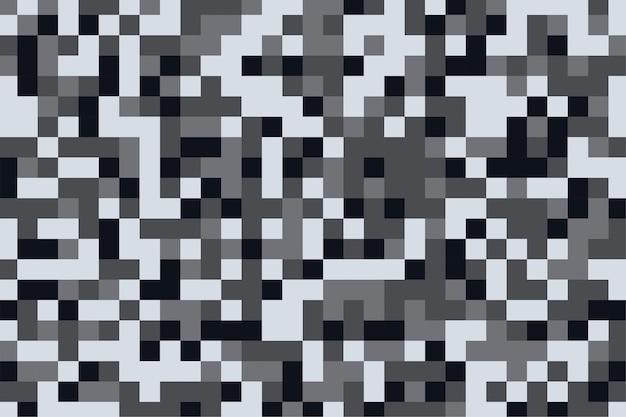Camouflage patroon textuur in pixel grijze tinten achtergrond Gratis Vector