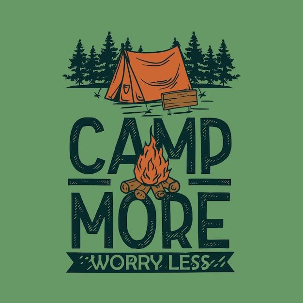 Camp more t-shirt afbeelding Premium Vector