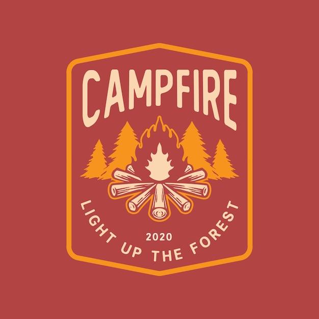 Campfire-logo Premium Vector