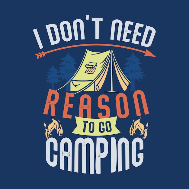 Camping gezegden en citaten. Premium Vector