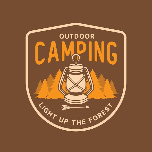 Camping-logo Premium Vector