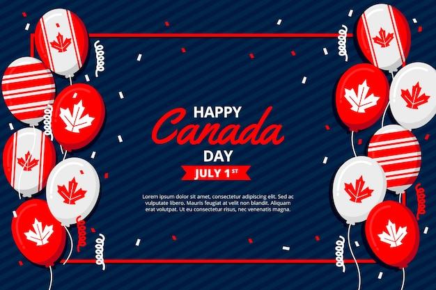 Canada dag ballonnen behang Gratis Vector