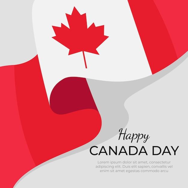 Canada dag in platte ontwerpconcept Gratis Vector