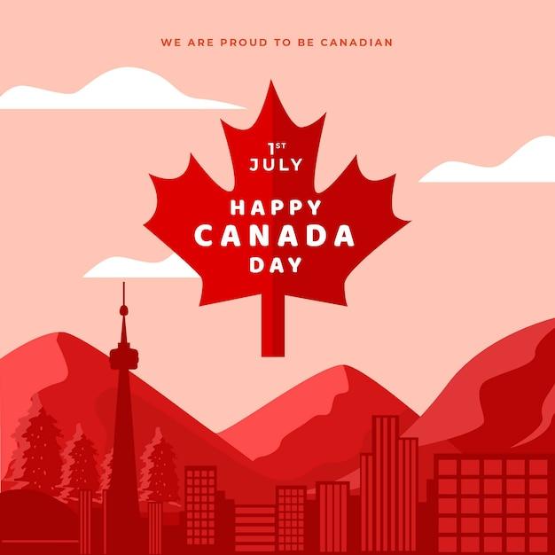 Canada day viering stijl Gratis Vector