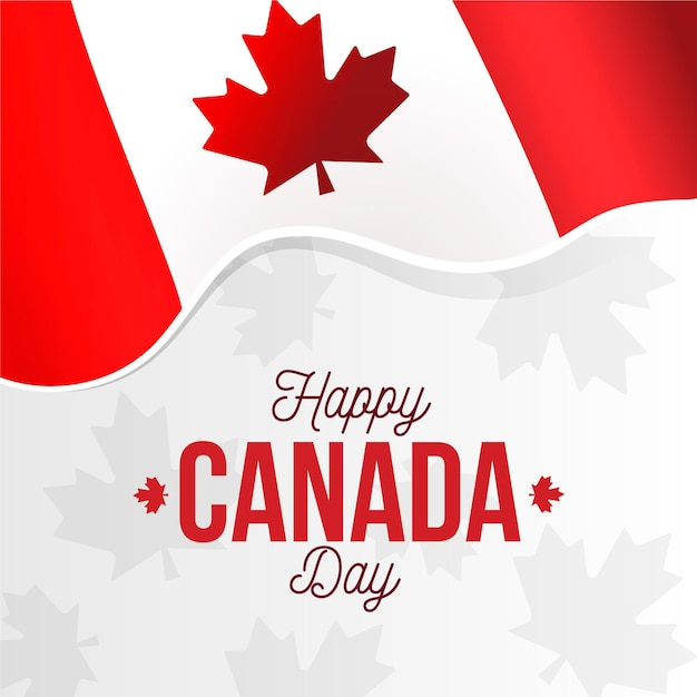 Canada day viering thema Gratis Vector