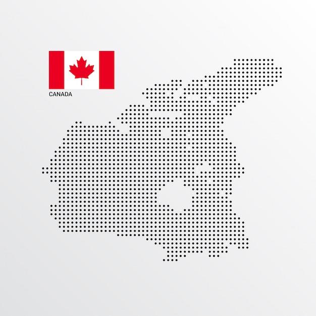 Canada kaartontwerp met vlag en lichte achtergrond vector Gratis Vector