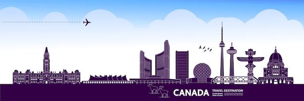 Canada reisbestemming grand Premium Vector