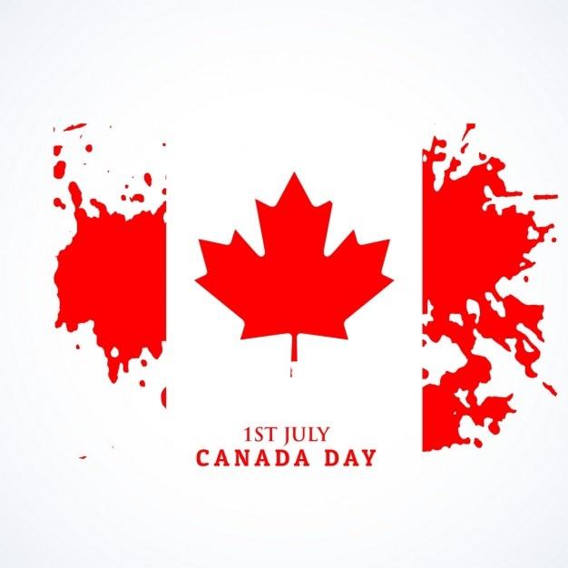 Canadese vlag in grunge stijl Gratis Vector