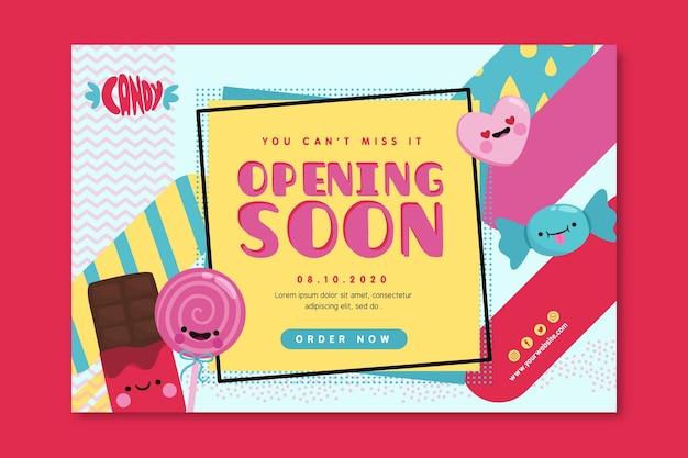 Candy shop sjabloon voor spandoek Gratis Vector