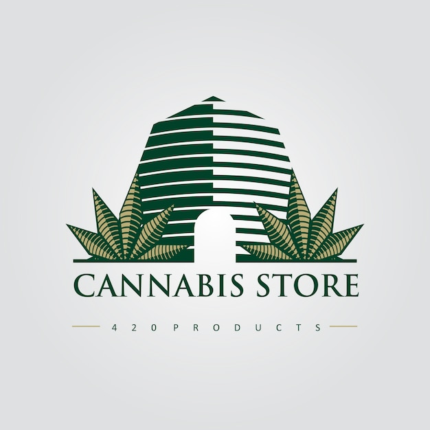 Cannabis store 420 premium-logo Premium Vector
