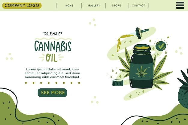 Cannabisolie - bestemmingspagina Gratis Vector