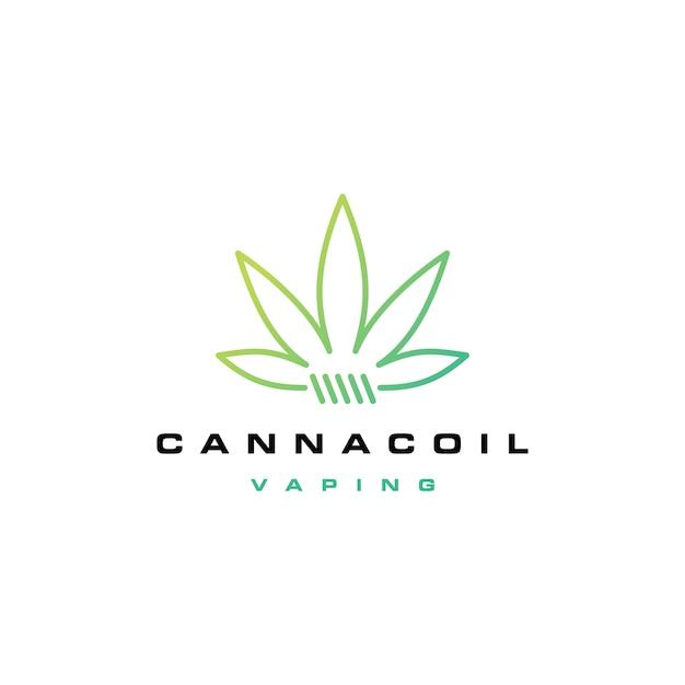 Cannacoil-cannabis-spoellogo Premium Vector