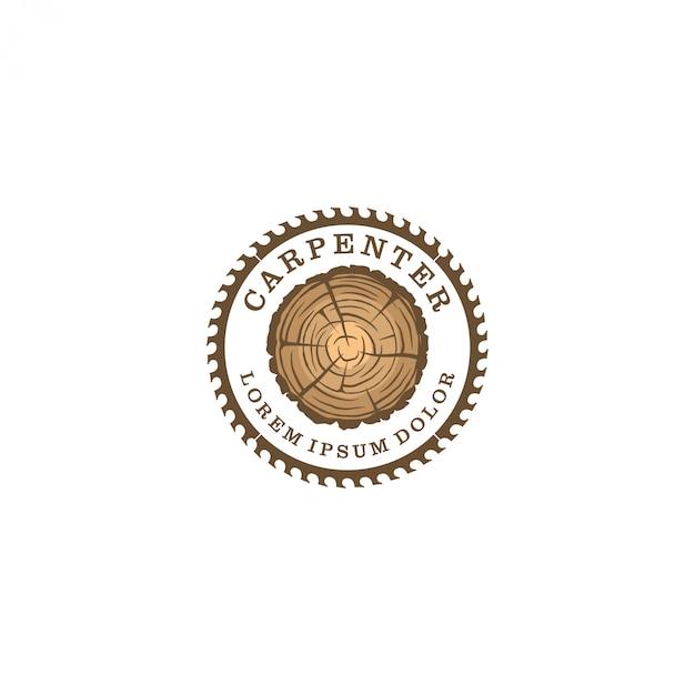 Capenter industrie logo Premium Vector