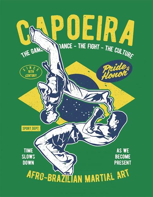 Capoeira Premium Vector