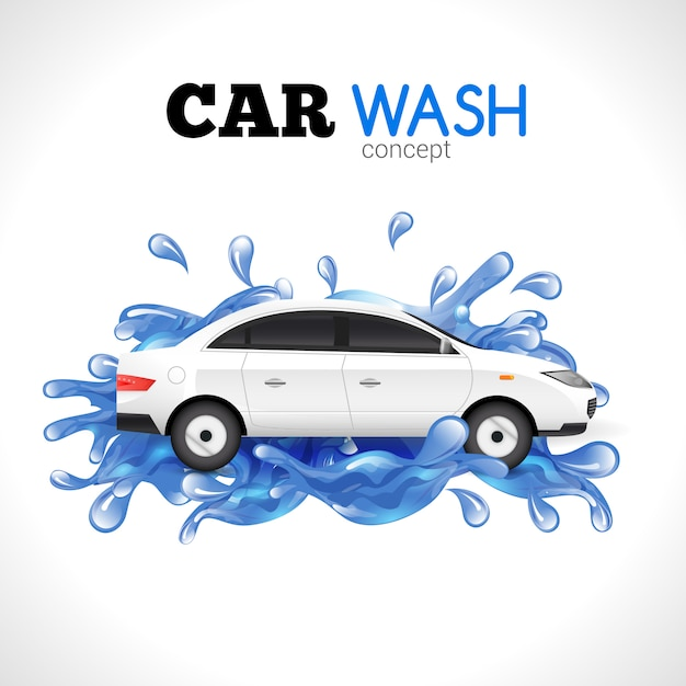Car wash concept Gratis Vector