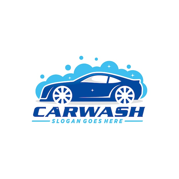 Car wash logo sjabloon Premium Vector