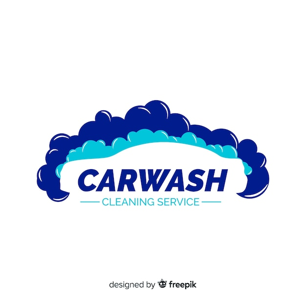 Car wash logo Gratis Vector