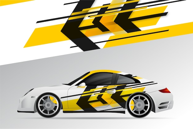 Car wrap ontwerp Gratis Vector