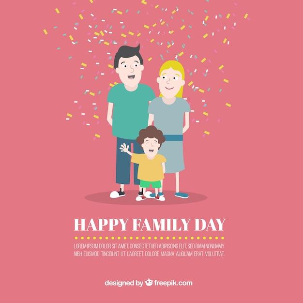 Card van de familie dag Gratis Vector