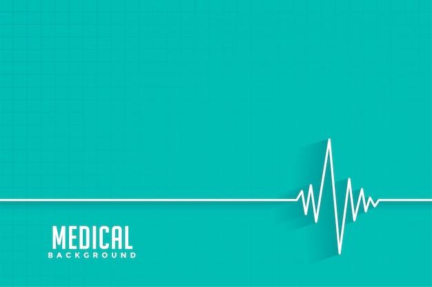 Cardio hartslag medische en gezondheidszorg achtergrond Gratis Vector