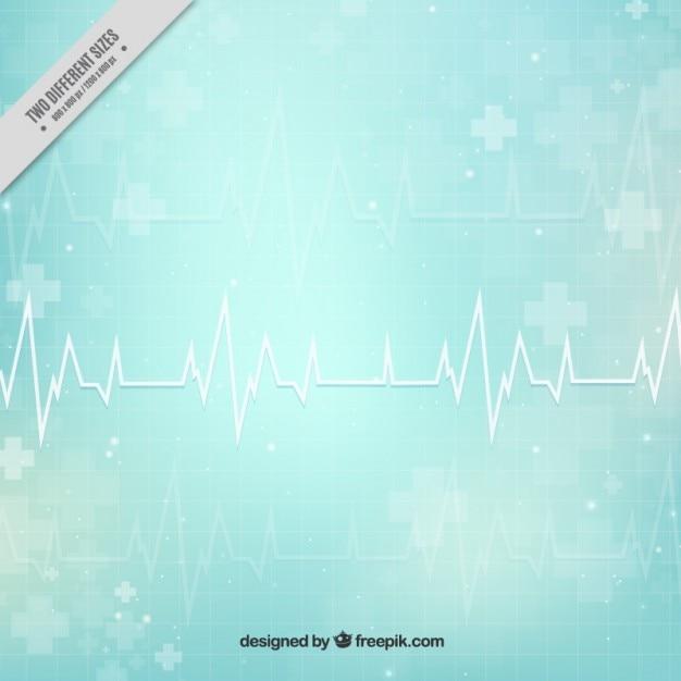Cardiogram abstracte medische achtergrond Gratis Vector