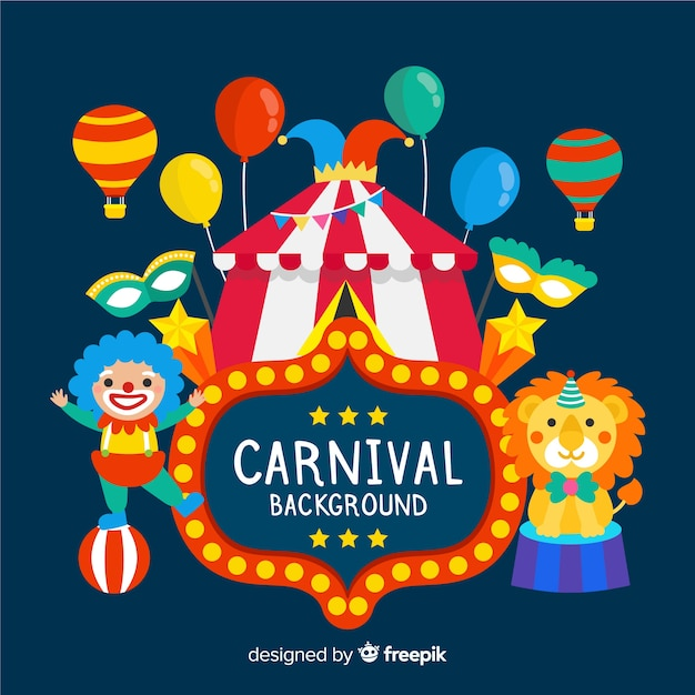 Carnaval achtergrond Gratis Vector