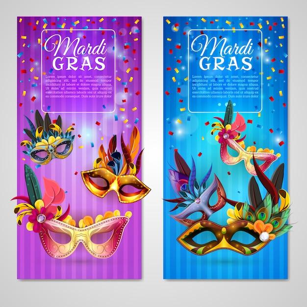 Carnaval banners set Gratis Vector