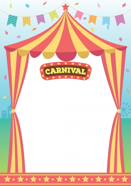 Carnaval circus sjabloon Premium Vector