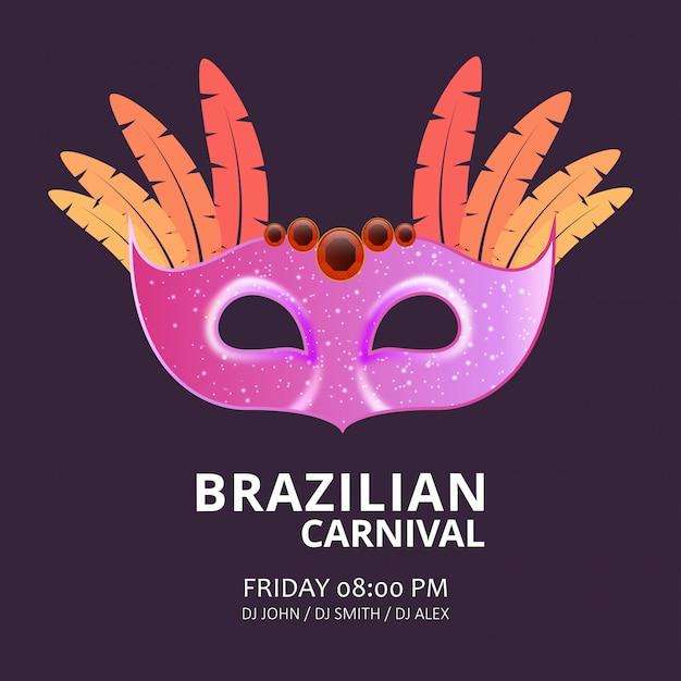 Carnaval feestelijke masker achtergrond Premium Vector