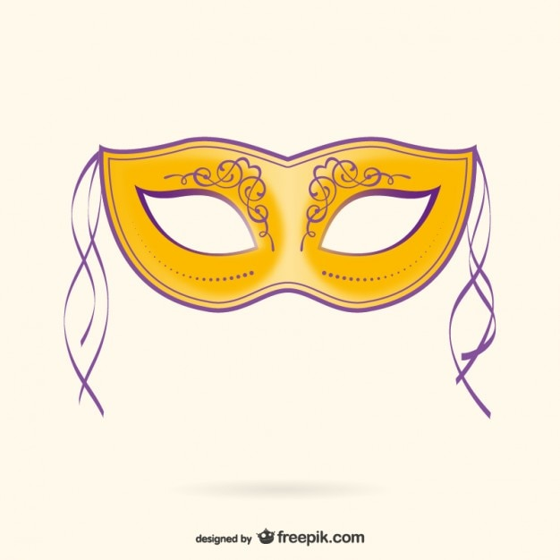 Carnaval masker illustratie Gratis Vector